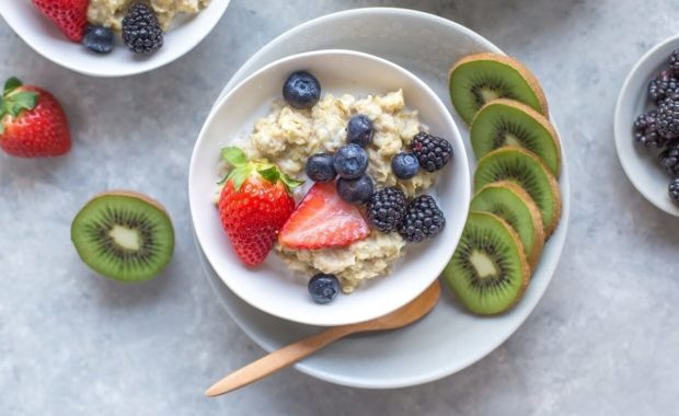 Berries and porridge