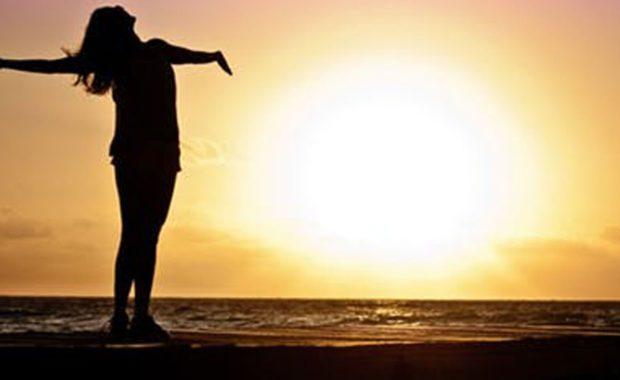 woman shadow in sun