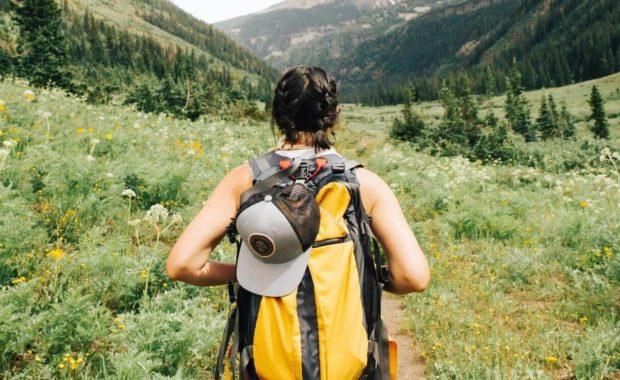 woman hiking in kapha season