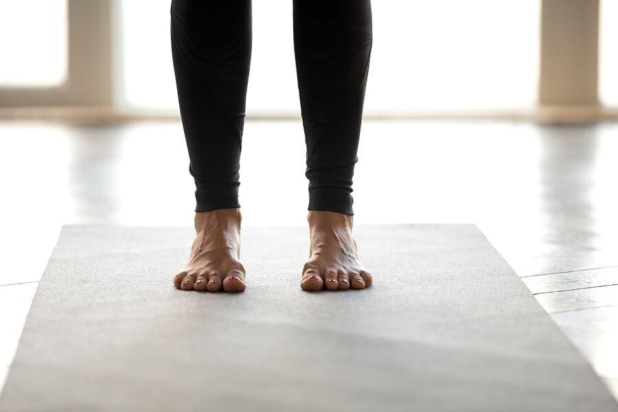 Yoga feet balancing