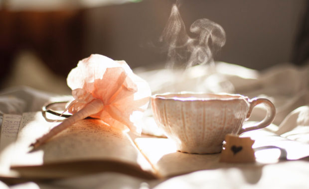 journal and tea