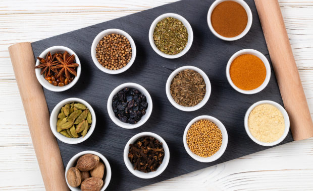 various spices as ayurvedic medicine for digestion