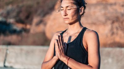 woman meditating to balance vata dosha