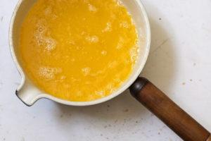 ghee being made in pan