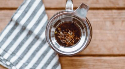 cup of tea from ayurvedic herbal medicine