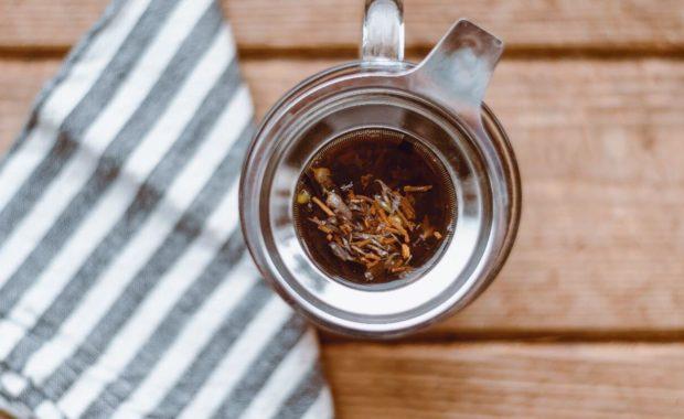 cup of tea from ayurvedic herbal medicine