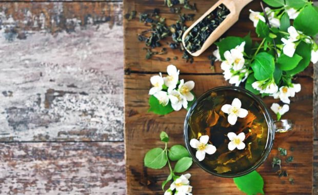 herbs on cutting board